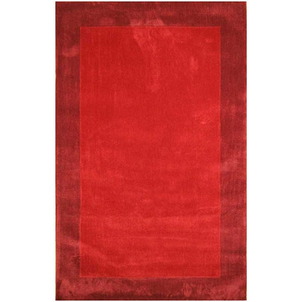 Hand Tufted Red Area Rug (7' 6x9' 6)