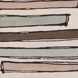 Noah Packard Hand-tufted Green/Beige Contemporary Monroe New Zealand Wool Abstract Rug (5' x 8')