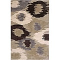 Hand Tufted Brown Area Rug (5'x7'6)