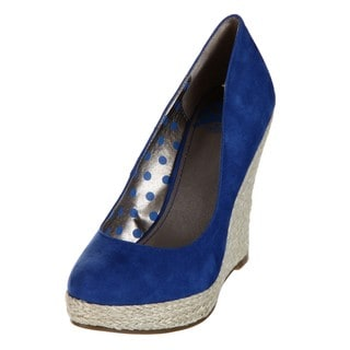 Fergie Women's 'Ultimate' Blue Wedge Pumps