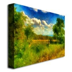Lois Bryan 'Split-rail Fence' Canvas Art