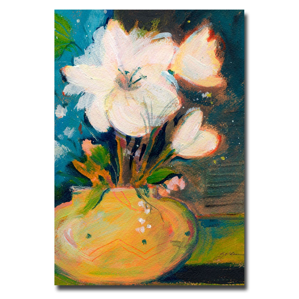 Sheila Golden 'Simplicity' Floral Canvas Art
