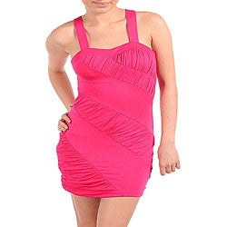 Stanzino Women's X-back Sexy Fuschia Dress