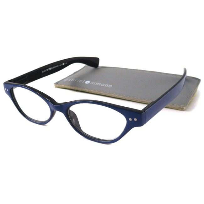 Blue-and-Black Gabriel+Simone Women's 'Le Maire' Cat-Eye Reading Glasses