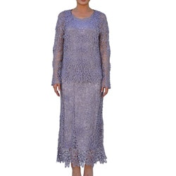 Soulmates Women's 2-piece Lavender Crochet Dress Set