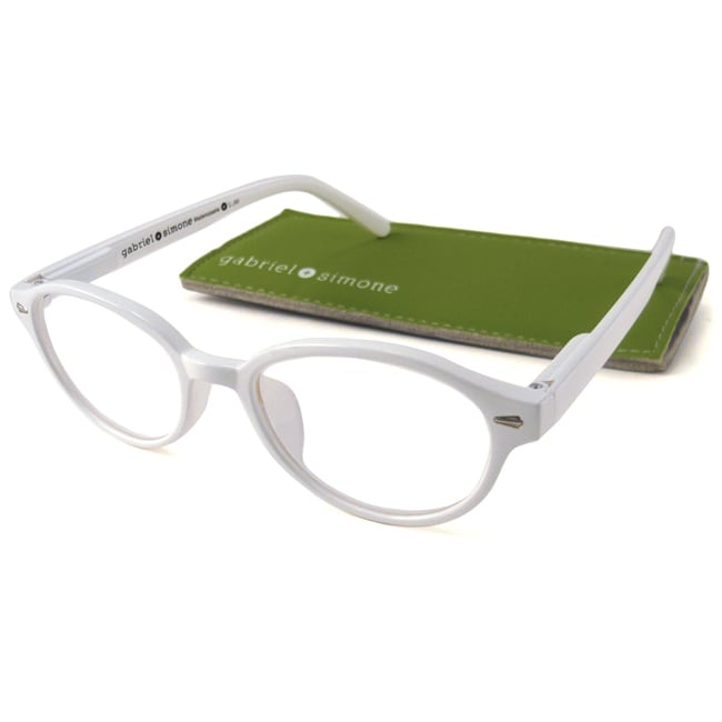 Gabriel+Simone Women's 'Mademoiselle' Round White Reading Glasses