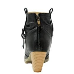Russel Matos Women's Black High Heel Combat Ankle Boots