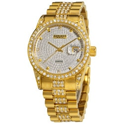 Akribos XXIV Women's Gold Diamond Quartz Bracelet Watch