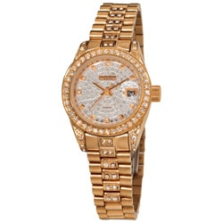 Akribos XXIV Women's Diamond Quartz Stainless-Steel Bracelet Watch