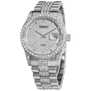 Akribos XXIV Men's Stainless Steel Diamond Quartz Bracelet Watch
