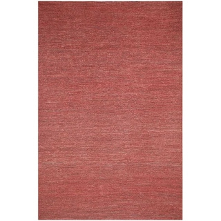 Hand-woven Red Hemp Area Rug (8' x 10')