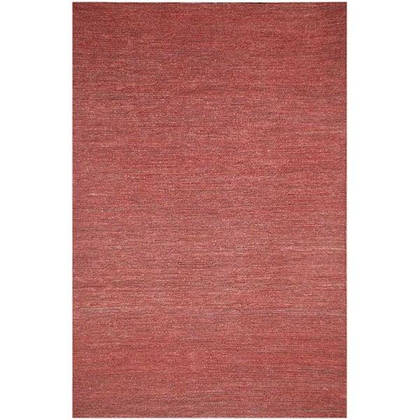 Hand-woven Red Hemp Area Rug (8' x 10')