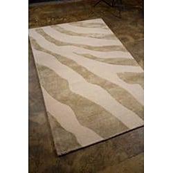 Hand-tufted Gray Wool Area Rug (8' x 11')