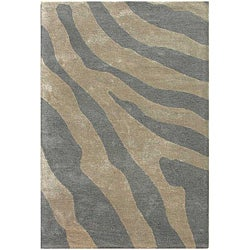 Hand-tufted Silver Wool Area Rug (2' x 3')
