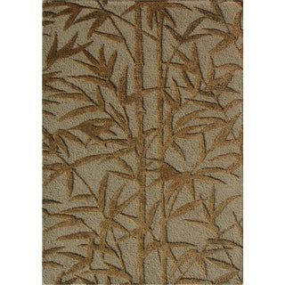 Bamboo Hand Tufted Wool and Art Silk Rug (2' x 3')