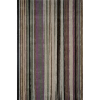 Handloom Wool and Art Silk Area RUg (8' X 11')
