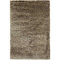 Hand-Woven Brown Wool-Blend Shag Area Rug (2' x 3')