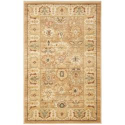 Oushak Light Brown/ Gold Rug (2'6 x 4')