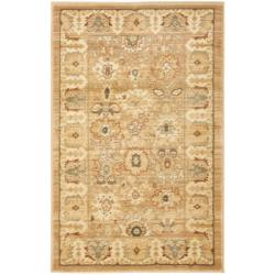 Oushak Light Brown/ Light Brown Rug (2'6 x 4')