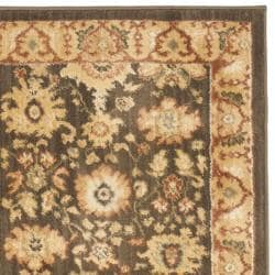 Oushak Brown/Rust Polypropylene Rug (2'3