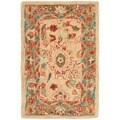 Safavieh Hand-made Oushak Beige/ Green Hand-spun Wool Rug (2' x 3')