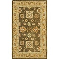 Hand-made Farahan Brown/ Taupe Hand-spun Wool Rug (3' x 5')