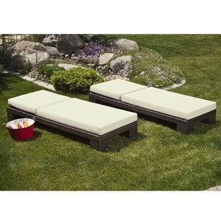 Palms Single Chaise Lounge with Cushions (Set of 2)