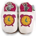 Clock Leather Baby Shoes