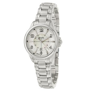 Bulova Women's 'Adventurer' Polished and Brushed Stainless Steel Quartz Watch