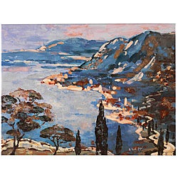 Fabrice de Villeneuve 'The Sapphire Coast' Canvas Art