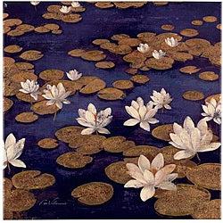 Fabrice de Villeneuve 'Perfect Lake' Canvas Art