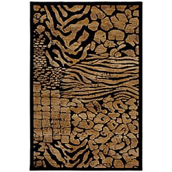 Mohawk Home Hallowed Ground Beige/ Black Rug (5'3 x 7'10)