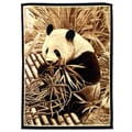African Adventure Panda Bear Area Rug (5