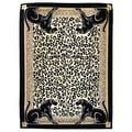 African Adventure Panther Border Rug (5'x7')