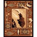 Brown Fish & Bear Area Rug (5'x7')
