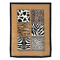 African Adventure Mixed Skins Area Rug (5'x7')