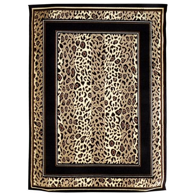 African Adventure Leopard Skin Area Rug (5' x 7')