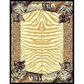 African Adventure Tiger Border Area Rug (5'x7')