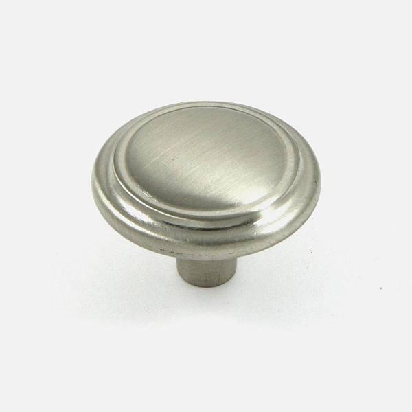 Stone Mill Hardware Satin Nickel Sidney Cabinet Knob (Pack of 5)