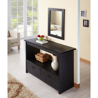 Furniture of America Black Caliper Sofa/ Console Table