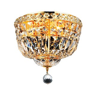 Somette Gold Four-light Flush Mount Fixture