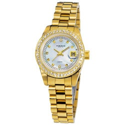 Akribos XXIV Women's Diamond Quartz Gold-Tone Bracelet Watch