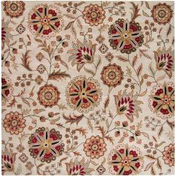 Hand-tufted Dublin Floral Wool Rug (9'9 x 9'9)
