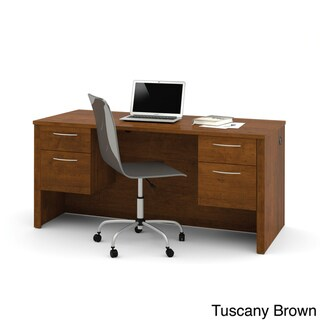 Bestar Embassy Executive Desk with Dual Half Pedestals