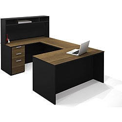 Bestar Pro-Concept U-Shaped Workstation with Small Hutch