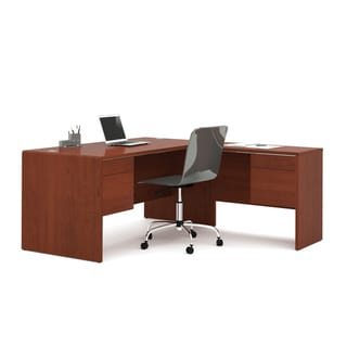 Bestar Fall Creek L-Desk in Bordeaux