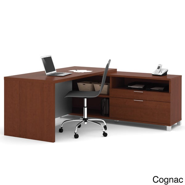 Bestar Pro Linea L Shaped Workstation