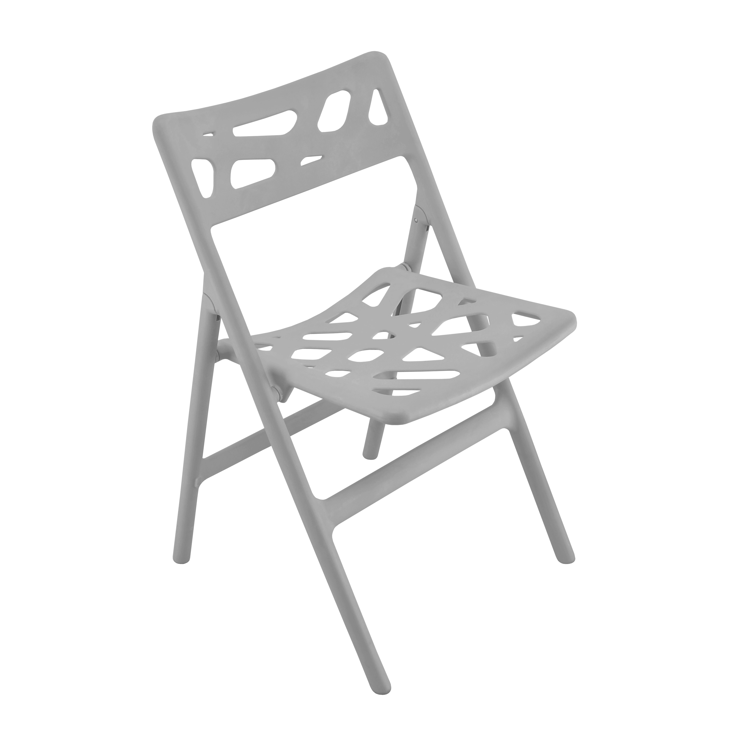 Cyclone Grey Indoor/ Outdoor Folding Chairs (Set of 2)