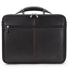 Zeyner Bullfight Leather Top-Zip 17-inch Laptop Briefcase