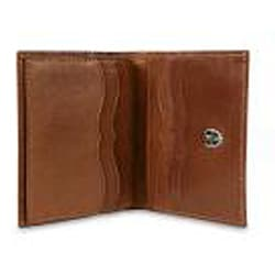Zeyner Cognac Leather Credit Card and ID Case